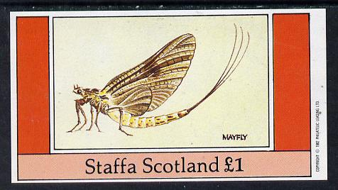 Staffa 1982 Insects (Mayfly) imperf souvenir sheet (�1 value) unmounted mint