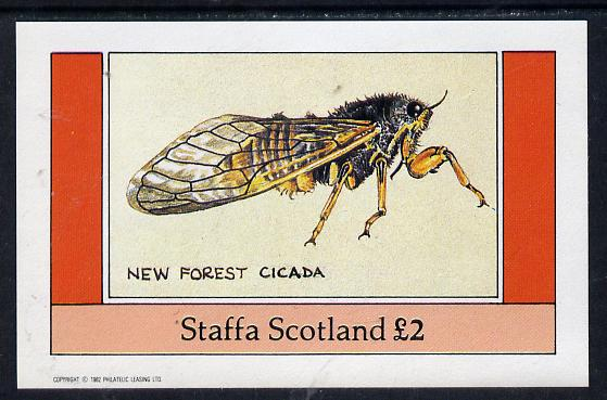 Staffa 1982 Insects (New Forest Cicada) imperf deluxe sheet (�2 value) unmounted mint