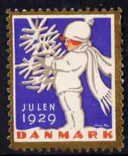 Cinderella - Denmark 1929 Christmas seal unused without gum