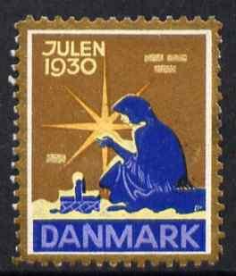 Cinderella - Denmark 1930 Christmas seal unused without gum