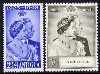 Antigua 1949 KG6 Royal Silver Wedding set of 2 unmounted mint SG 112-3