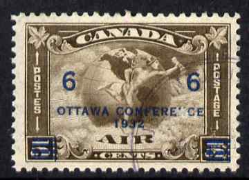 Canada 1932 Ottawa Conference 6c on 5c Air fine corner cancel SG318
