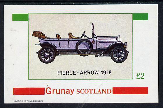 Grunay 1982 Vintage Cars (Pierce Arrow 1918) imperf deluxe sheet (�2 value) unmounted mint