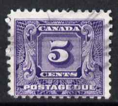 Canada 1930-32 Postage Due 5c commercially used, SG D12