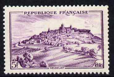 France 1946-48 Vezelay 5f unmounted mint, SG 976