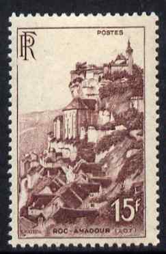 France 1946-48 Roc-Amadour 15f unmounted mint, SG 980