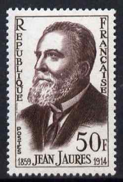France 1959 Birth Centenary of Jaures (socialist leader) 50f unmounted mint, SG 1439