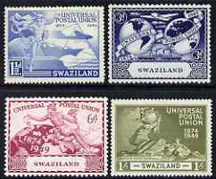 Swaziland 1949 KG6 75th Anniversary of Universal Postal Union set of 4 mounted mint, SG 48-51