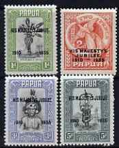 Papua 1935 KG5 Silver Jubilee set of 4, mounted mint SG 150-53