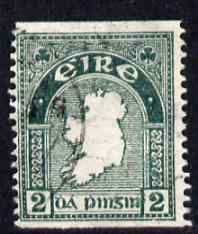 Ireland 1922-34 Map 2d coil imperf x 14 fine cds used, SG 74a