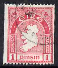 Ireland 1922-34 Map 1d coil P15 x imperf fine cds used, SG 72c
