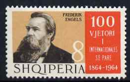 Albania 1964 Frederick Engels 8L unmounted mint, SG 856