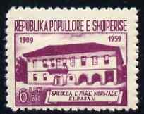Albania 1960 Elbasan School 6L50 purple unmounted mint, SG 654