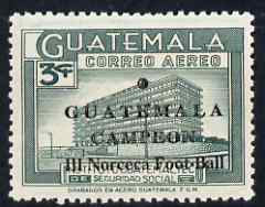 Guatemala 1967 Victory in Norceca Football Games 3c green unmounted mint, SG 787