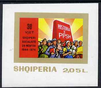 Albania 1974 30th Anniversary of Liberation imperf m/sheet unmounted mint, SG MS 1721