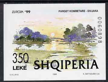 Albania 1999 Europa - Parks & Gardens imperf m/sheet unmounted mint, SG MS 2736