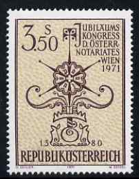 Austria 1971 Notarial Statute Congress 3s50 unmounted mint, SG 1612