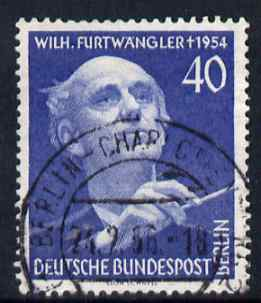 Germany - West Berlin 1955 First Death Anniversary of  Furtwangler (conductor) fine used SG B125