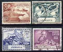Jamaica 1949 KG6 75th Anniversary of Universal Postal Union set of 4 fine used, SG145-48