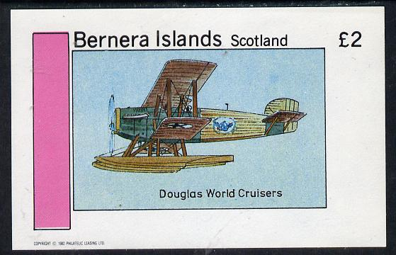 Bernera 1982 Bi-Planes #2 (Douglas) imperf deluxe sheet (�2 value) unmounted mint