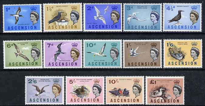 Ascension 1963 Birds definitive set complete unmounted mint, SG 70-83