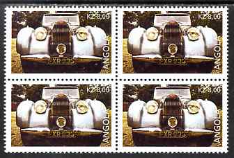 Angola 1998 Greatest Cars of the Century - Bugatti Type 57C perf block of 4 unmounted mint