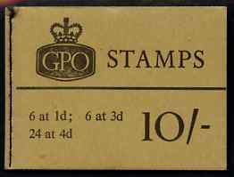 Booklet - Great Britain 1965-66 Wilding Crowns 10s booklet (Nov 1966) complete and fine SG X14