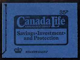 Booklet - Great Britain 1974 Canada Life 35p booklet dated Sept 1974 complete and fine SG DP4