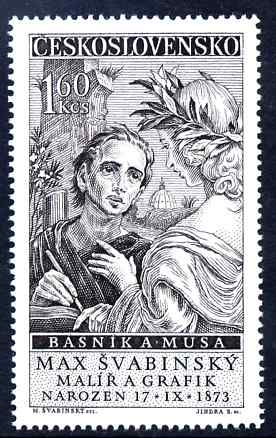 Czechoslovakia 1958 85th Birthday of Dr Max Svabinsky (artist) unmounted mint SG 1049
