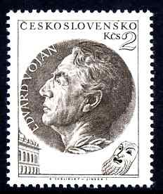 Czechoslovakia 1953 E Vojan (actor) 2k unmounted mint SG 799
