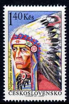Czechoslovakia 1966 Dakota Indian Chief 1k40 unmounted mint SG 1590