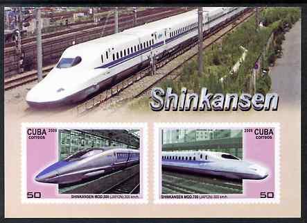 Cuba 2009 High Speed Trains (Shinkansen) imperf m/sheet unmounted mint