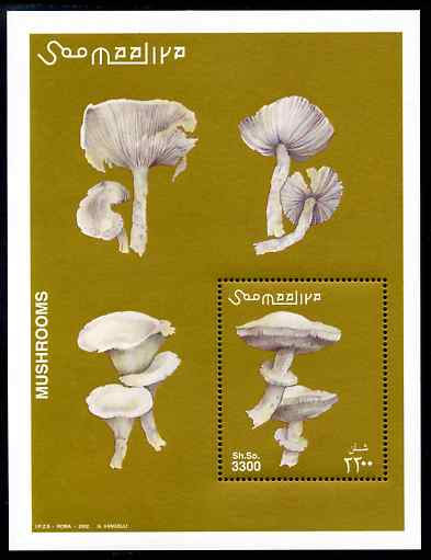 Somalia 2002 Fungi perf m/sheet unmounted mint. Note this item is privately produced and is offered purely on its thematic appeal Michel BL94