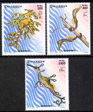 Somalia 2001 Sea Horses perf set of 3 unmounted mint. Note this item is privately produced and is offered purely on its thematic appeal Michel 924-6