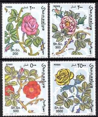 Somalia 1997 Roses perf set of 4 unmounted mint. Note this item is privately produced and is offered purely on its thematic appeal Michel 653-6