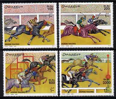 Somalia 2000 Horse Racing perf set of 4 unmounted mint. Note this item is privately produced and is offered purely on its thematic appeal Michel 832-5