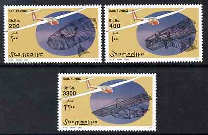 Somalia 2002 Sail Flying perf set of 3 unmounted mint. Note this item is privately produced and is offered purely on its thematic appeal Michel 995-7