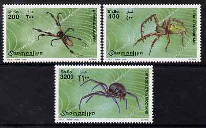 Somalia 2002 Spiders perf set of 3 unmounted mint. Note this item is privately produced and is offered purely on its thematic appeal Michel 991-3