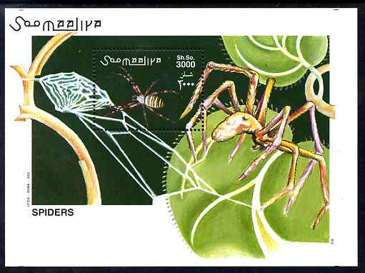 Somalia 2002 Spiders perf m/sheet unmounted mint. Note this item is privately produced and is offered purely on its thematic appeal Michel BL 98