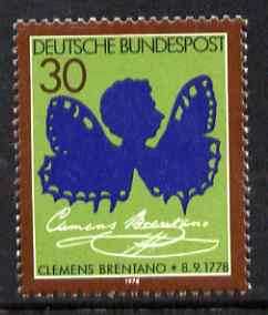 Germany - West 1978 Birth Bicentenary of Clemens Brentano (poet) unmounted mint, SG1869