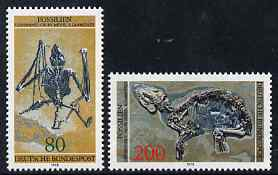 Germany - West 1978 Archaeological Heritage - Fossils perf set of 2 unmounted mint, SG1865-66