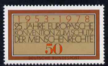 Germany - West 1978 25th Anniversary of European Human Rights 50pf unmounted mint, SG 1870