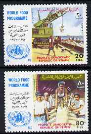Yemen - Republic 1973 World Food Programme perf set of 2 unmounted mint, SG 149-50