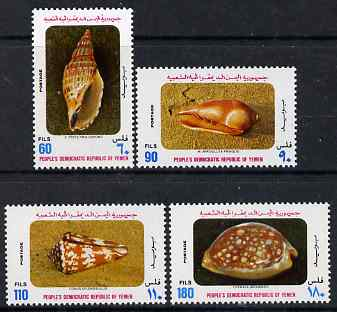 Yemen - Republic 1977 Shells perf set of 4 unmounted mint, SG 188-91