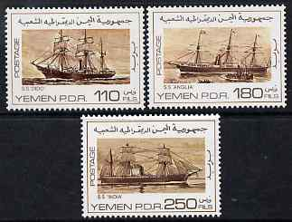 Yemen - Republic 1980 Screw Steamers perf set of 3 unmounted mint, SG 237-8