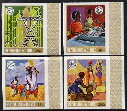 Guinea - Conakry 1969 50th Anniversary of ILO imperf set of 4 unmounted mint, as SG 707-10, Mi 549-52