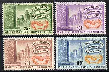 Guinea - Conakry 1965 International Co-operation Year perf set of 4 unmounted mint SG 501-4