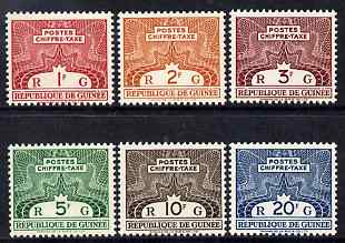 Guinea - Conakry 1959 Postage Due perf set of 6 unmounted mint SG D224-9