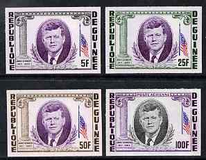 Guinea - Conakry 1964 Kennedy Memorial imperf set of 4 from limited printing unmounted mint as SG 426-9