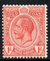 Gold Coast 1913-21 KG5 1d red unmounted mint SG 72